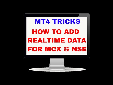Mt4 Training How To Add Scripts For Mcx And Nse Youtube