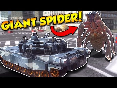 EDF 4.1 - GIANT SPIDERS Vs TANK! - Earth Defense Force 4.1 Multiplayer Gameplay
