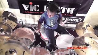 Disturbed - Inside the Fire, 10 Year Old Drummer, Jonah Rocks