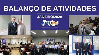 Balanço de Atividades da Amupe | Janeiro/2020