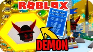 😈 CRAFTEO LA DEMON MASK EN ROBLOX BEE SWARM 😈
