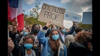 Des milliers de personnes en France après la mort de Samuel Paty