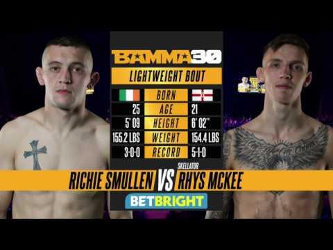BAMMA 30: Richie Smullen vs Rhys McKee