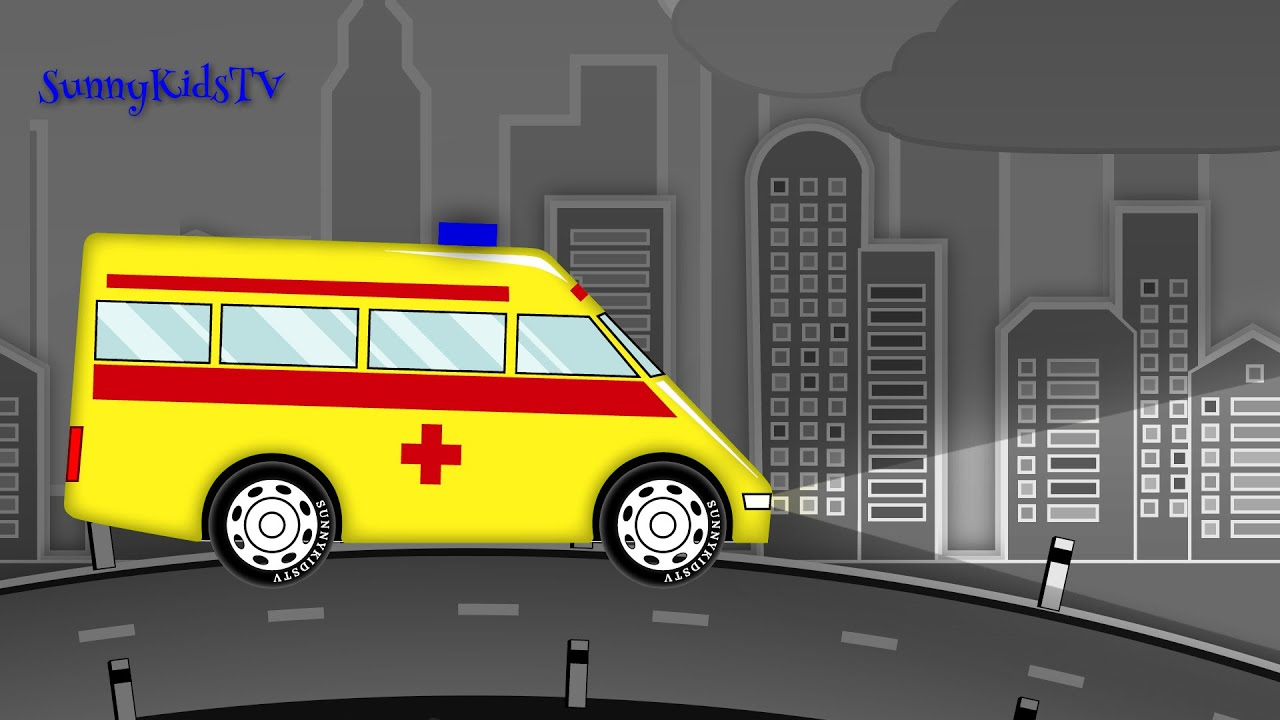 Cars And Trucks For Kids. Ambulance. Fire Truck. Police