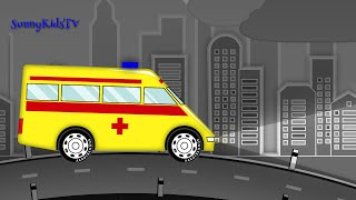 cars and trucks for kids ambulance fire truck police car cartoon for children