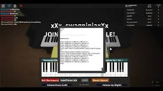ROBLOX - Virtual Piano [NEW!] - Kalinka hard