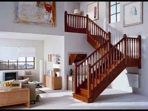 model tangga dari kayu rumah moderen minimalis - youtube