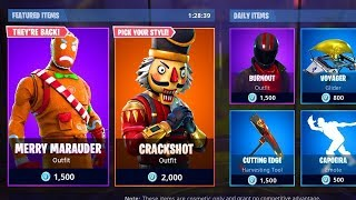 *NEW* CHRISTMAS ITEM SHOP COUNTDOWN | December 19th - NEW SKINS! (Fortnite Battle Royale)