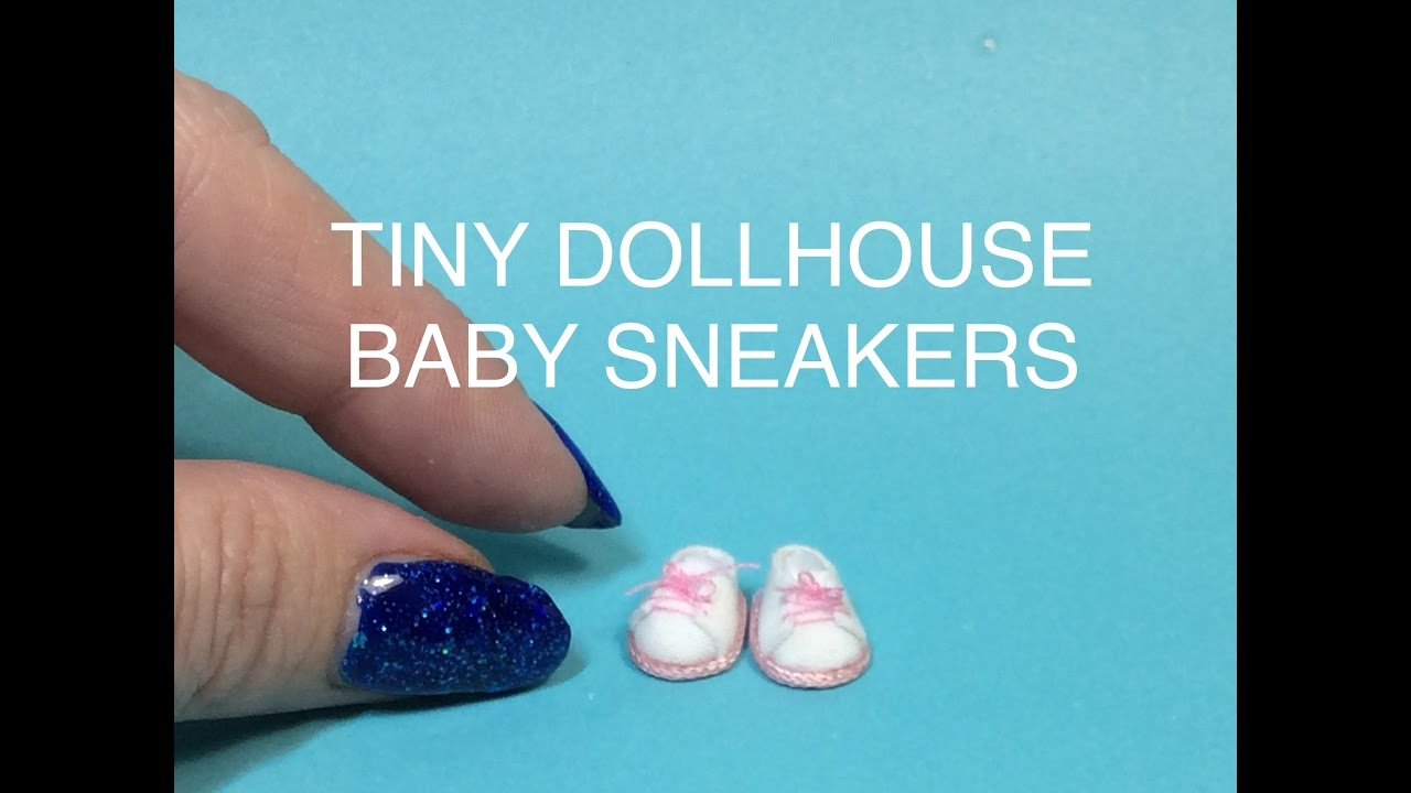 Miniature Tutorial Baby Doll Dollhouse Sneakers Shoes Diy