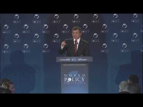 Lunch debate with Ahmet Davutoglu