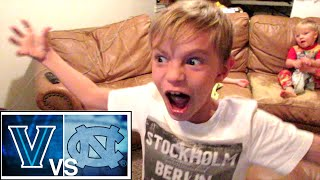 VILLANOVA vs NORTH CAROLINA GAME WINNING SHOT! (KIDS REACT)