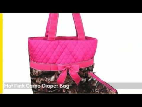 Pink Camo Daiper Bag - Sets and Reviews