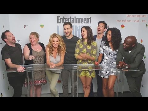 Claudia Black & Containment crew for EW 2015 interview