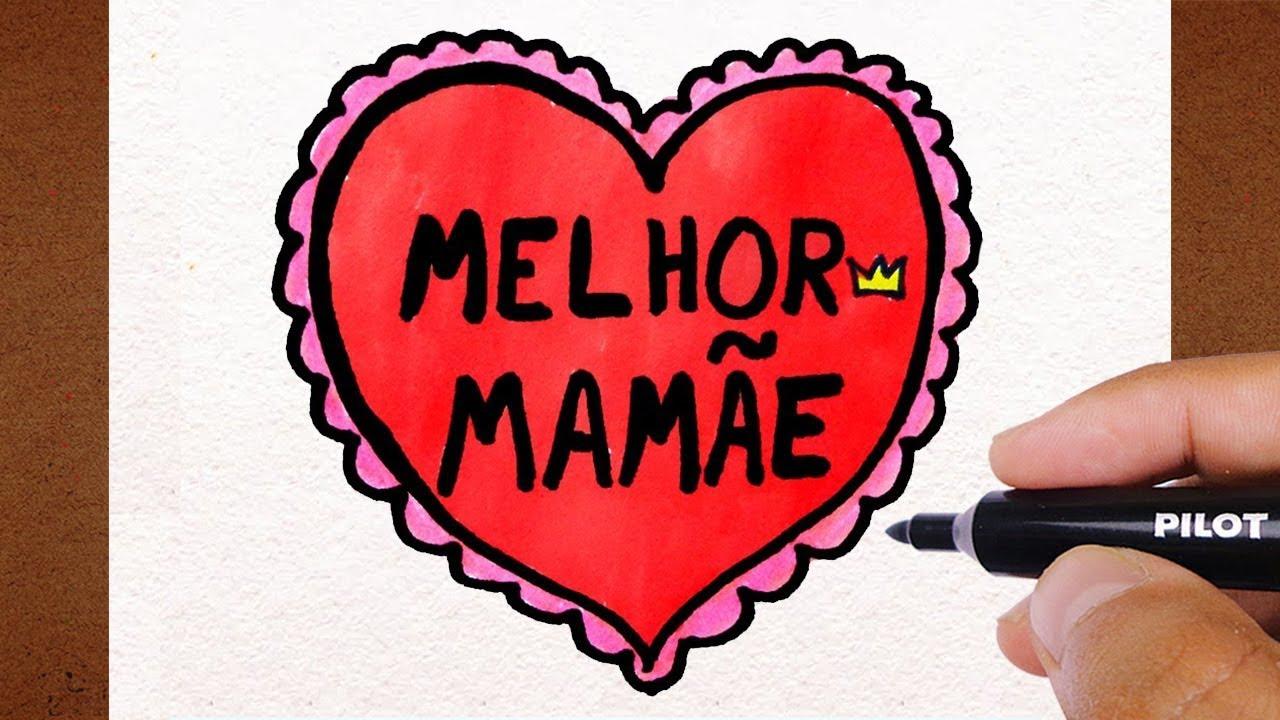 Como Desenhar Um Cartao Melhor Mamae Dia Das Maes Youtube