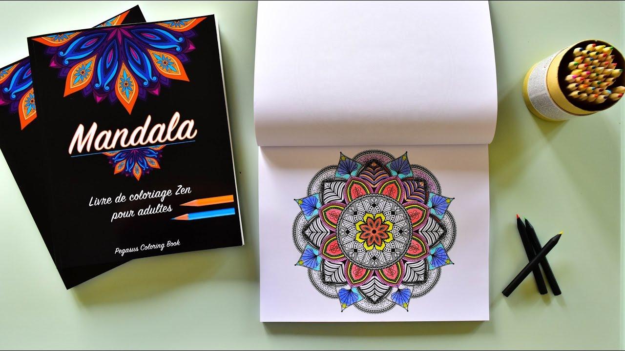 Livre De Coloriage Mandala Youtube