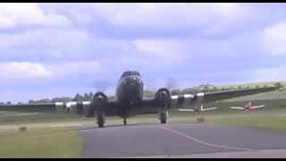 Dakota & Spitfire - Battle of Britain Memorial Flight at Duxford D Day Airshow