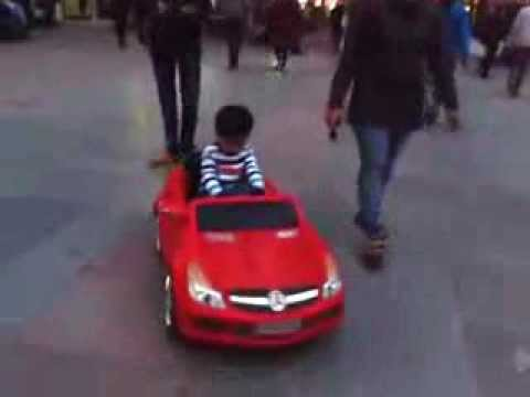 Toy Car Videos For Children Baby Riding A Toy Car Youtube