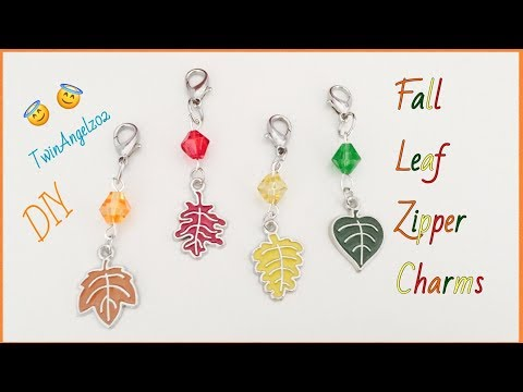 DIY ~ Autumn Leaf Zipper Charms ~ Etsy