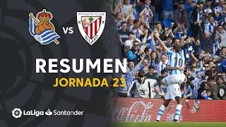 Resumen de Real Sociedad vs Athletic Club (2-1)
