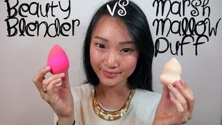 Comparison Review ♥ Beauty Blender Vs Marshmallow Puff