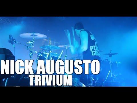 Nick Augusto (Trivium) - 'Brave This Storm' live drum cam