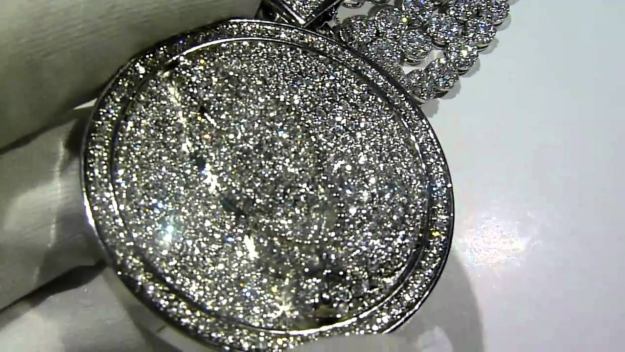 SOLDCOMBO Lab Made Diamond Cluster Chain3row Bracelet