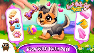 New Sweet Baby Girl Summer Camp Update! Play With a Dog! | TutoTOONS Cartoons & Games for Kids