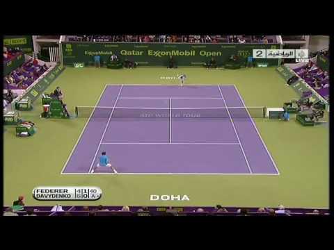 Qatar Open Doha 2010_Federer vs Davydenko SF Highlights