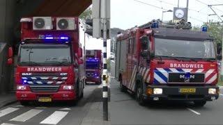 Hulpdiensten met spoed naar Zeer Grote Brand (GRIP 2) aan de Mijnsherenlaan te Rotterdam