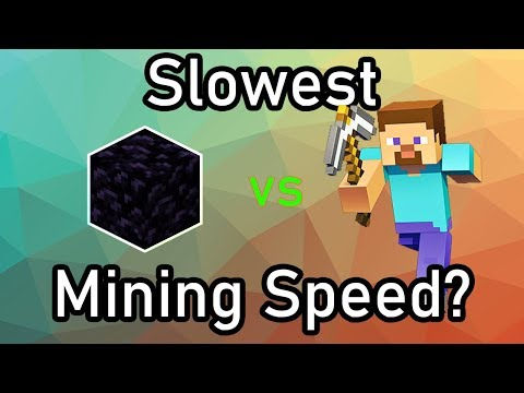 What Is The SLOWEST Mining Speed In Minecraft?