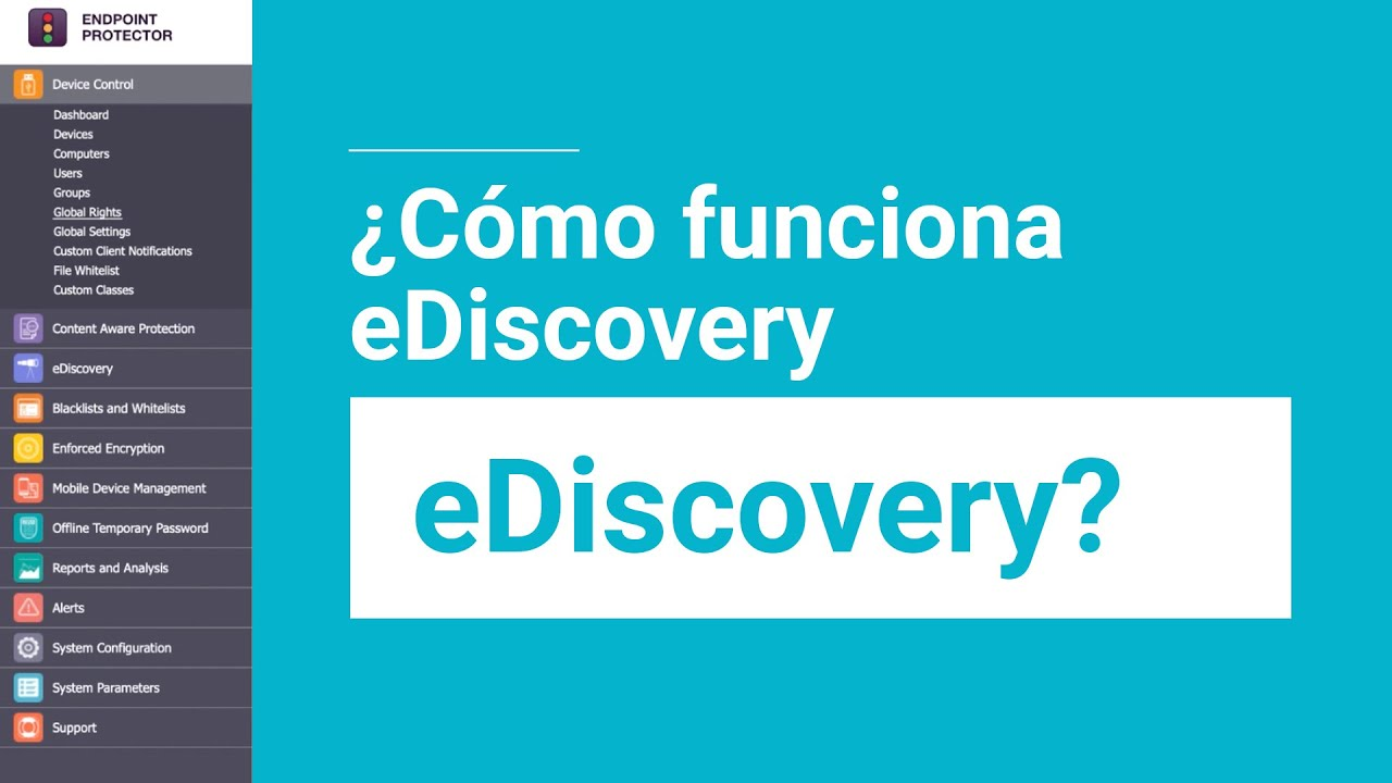 eDiscovery de Endpoint Protector (DLP)