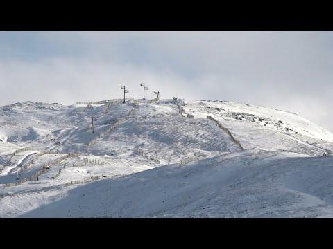First winter snowfall in Nov 2019 around Glenshee Ski centre and Braemar in Aberdeenshire, Scotland