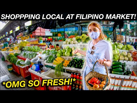 Doing our Grocery Shopping at Local Filipino Market! (Market Market BGC)