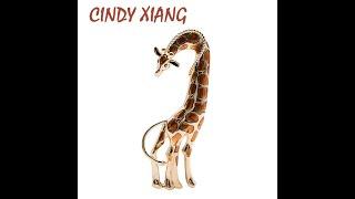 Женская брошь жираф cindy xiang большая эмалированная в виде животного осенний стиль с Aliexpress