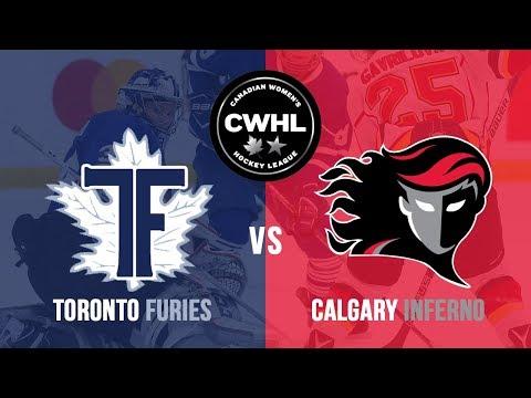 CWHL  Toronto Furies at Calgary Inferno  Dec 16 8b91de297e
