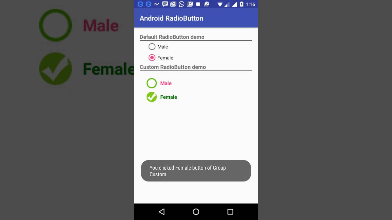 Android RadioButton - Customization & Usage