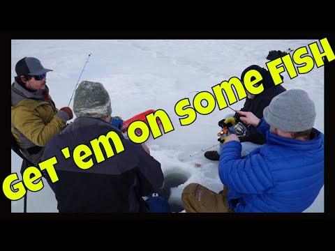 ICE FISHING - 4 DOUBLES IN ONE DAY!