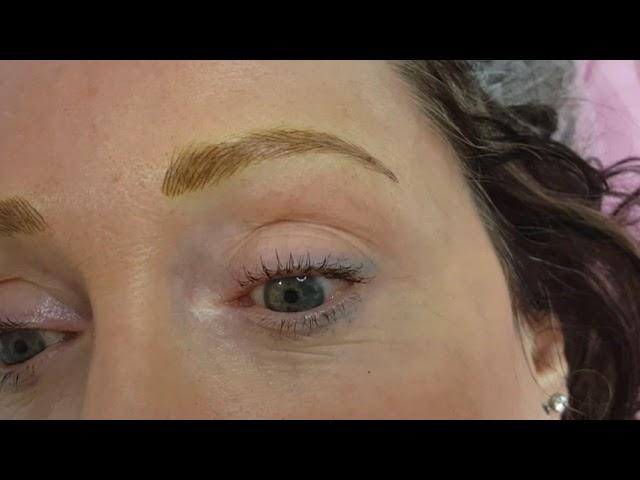3D Realism Eyebrows Microblading Medium Blonde by El Truchan @ Perfect Definition London