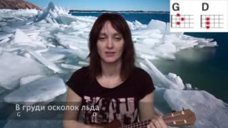 Ария Осколок льда Кипелов укулеле простые аккорды онлайн