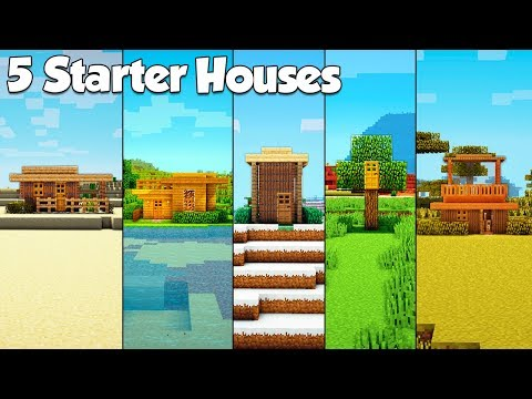 Minecraft: 5 Starter House Build Hacks & Ideas - Tutorial