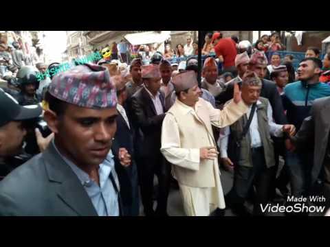 KING GYANENDRA @BASHANTAPUR FOR PACHALIBHAIRAV PUJA