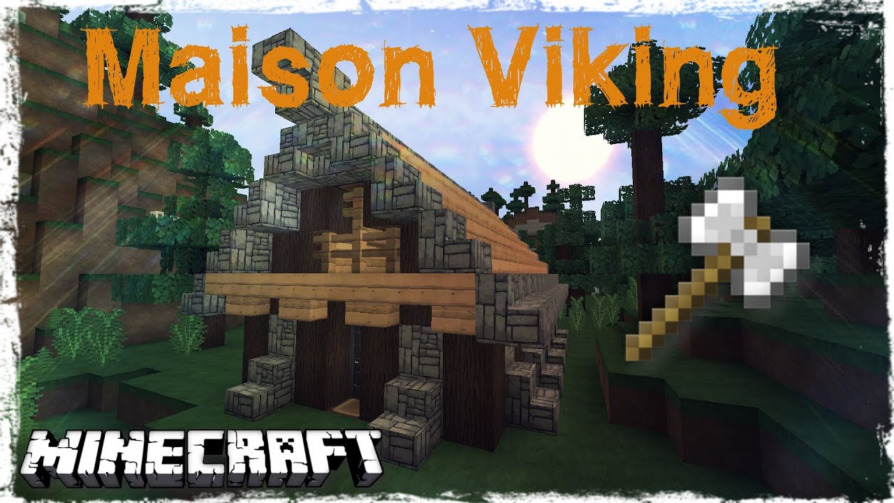 tuto minecraft comment faire une maison viking youtube. Black Bedroom Furniture Sets. Home Design Ideas