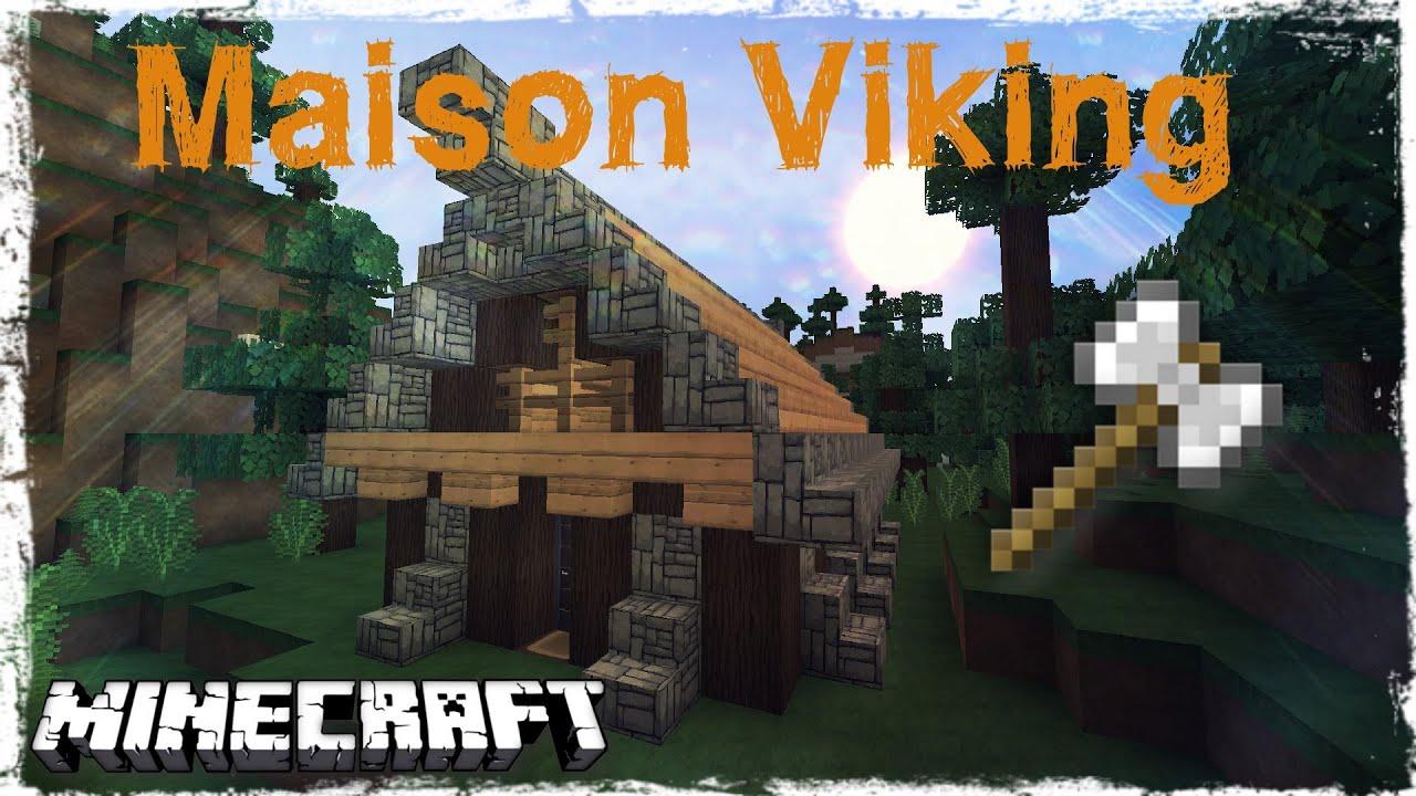 tuto minecraft comment faire une maison viking youtube. Black Bedroom Furniture Sets. Home Design Ideas