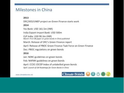 Green Bonds Update from China & India (May 13th 2016 Webinar)