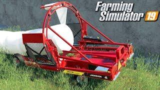 Owijanie bel trawy - Farming Simulator 19 | #44