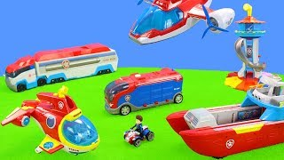 Paw Patrol Biggest Excavator, Aircraft & Trucks | Fire Engine Vehicle Toys Unboxing for Kids