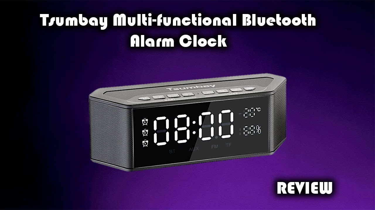 5211c7ee4f5 Tsumbay Wireless Bluetooth Alarm Clock with FM Radio Review - YouTube