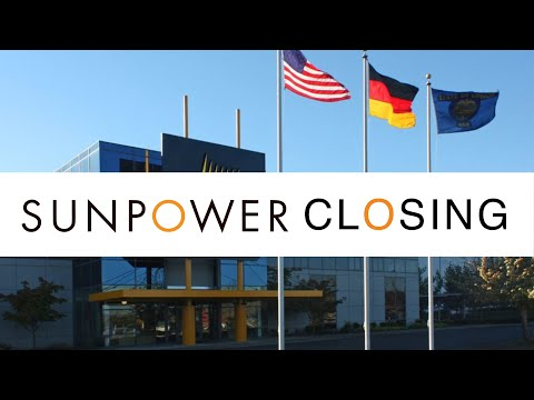SunPower closing solar panel manufacturing plant in Oregon