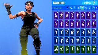 COMMANDO SKIN SHOWCASE AVEC TOUS LES DANCES FORTNITE - EMOTES