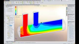 SOLIDWORKS Flow Simulation 2014 CFD Demo – Fluid Mixing Flow Analysis